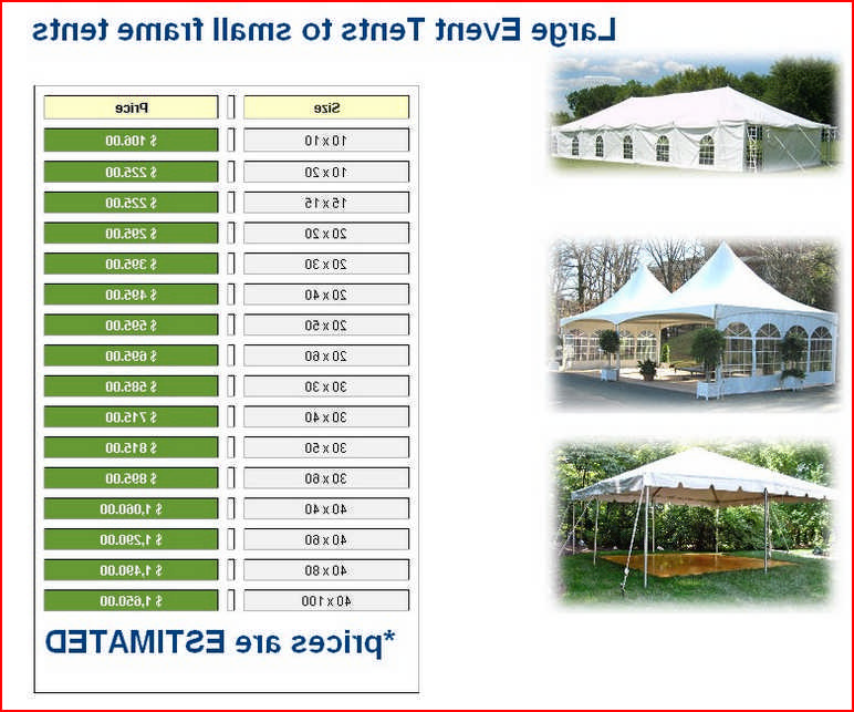 Party Tent Rentals Prices Near Me