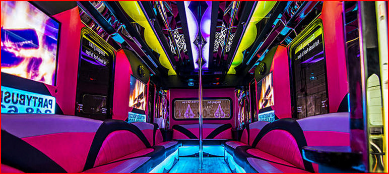 Pink Party Bus Rental Near Me