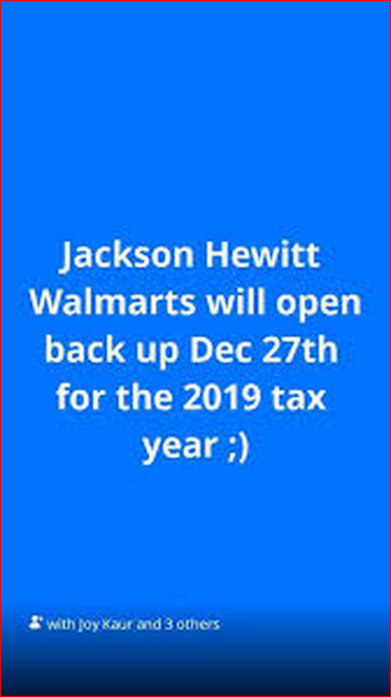 When Does Jackson Hewitt Start The Holiday Loan 2019