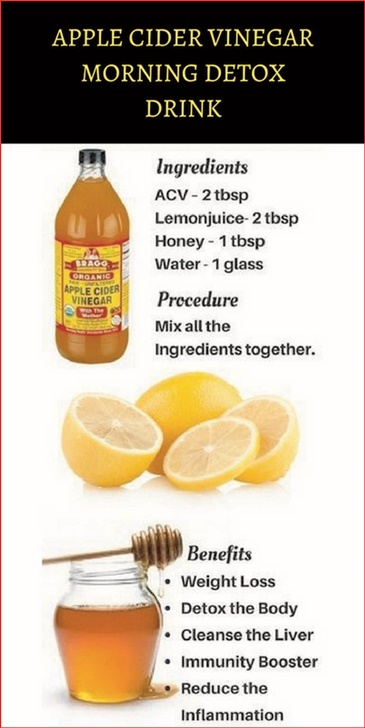 Apple Cider Vinegar And Lemon Juice Detox