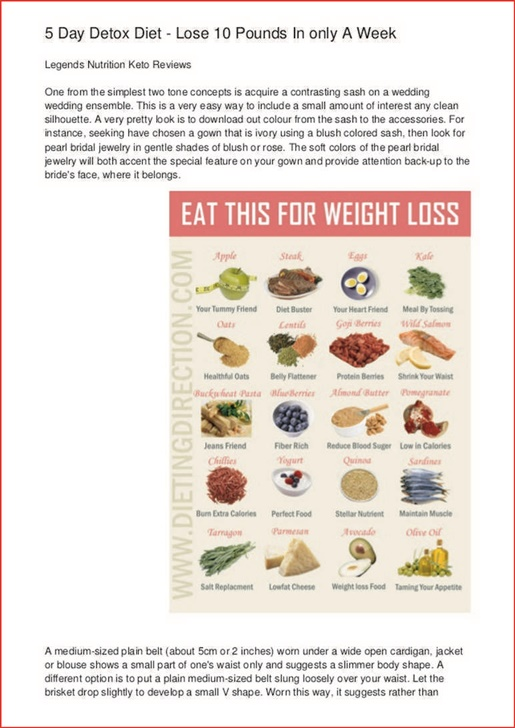 Lose 5 Pounds In A Day Detox