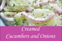 Creamed Cucumbers And Onions Recipe