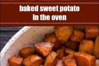 Baked Sweet Potato In The Oven