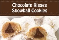 Chocolate Kisses Snowball Cookies