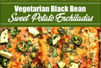 Vegetarian Black Bean Sweet Potato Enchiladas